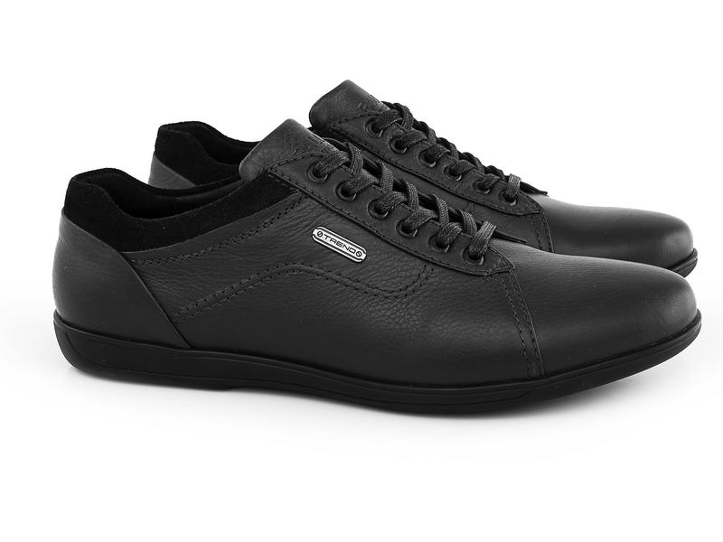 Мужские кожаные кроссовки Falcon 3615 blkфото 1