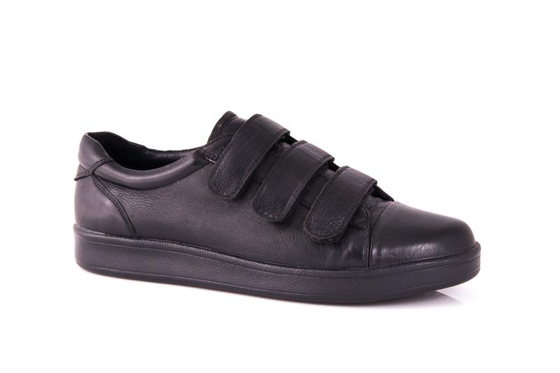 Мужские кожаные кроссовки Davis 3L blk фото 1