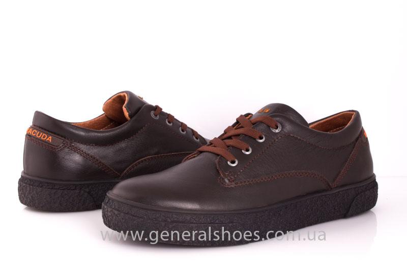Мужские кожаные кроссовки B 44 br фото 9