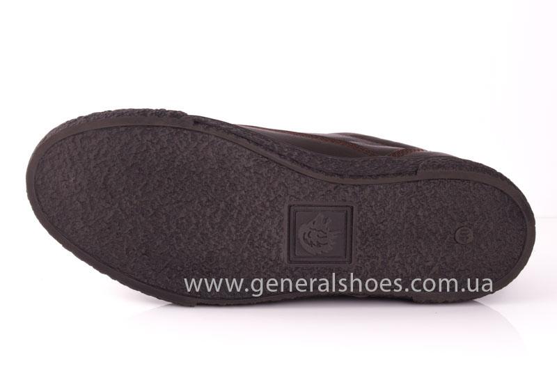 Мужские кожаные кроссовки B 44 br фото 11