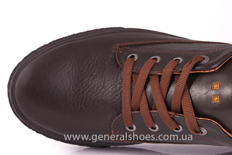 Мужские кожаные кроссовки B 44 br фото 7