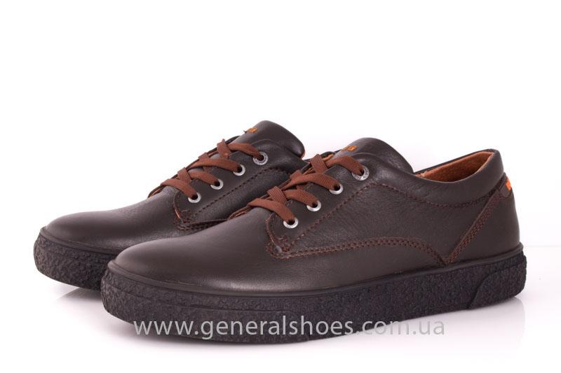 Мужские кожаные кроссовки B 44 br фото 8