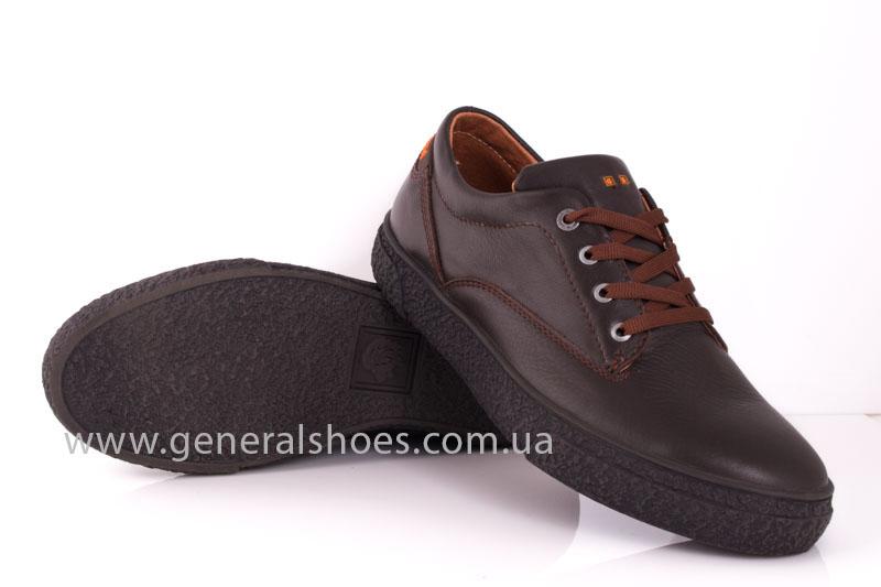 Мужские кожаные кроссовки B 44 br фото 10