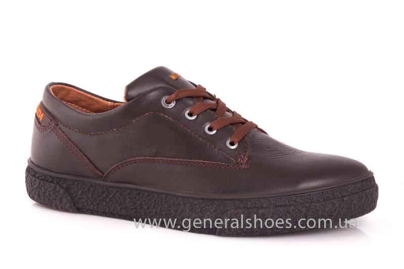 Мужские кожаные кроссовки B 44 br фото 1