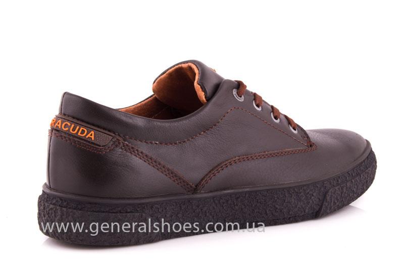 Мужские кожаные кроссовки B 44 br фото 3
