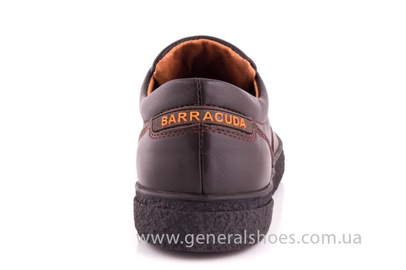 Мужские кожаные кроссовки B 44 br фото 4