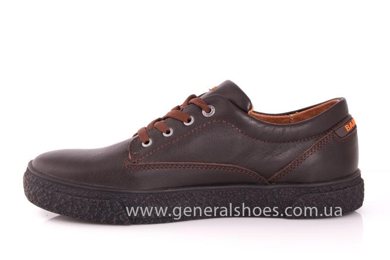 Мужские кожаные кроссовки B 44 br фото 5