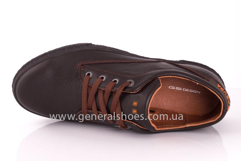 Мужские кожаные кроссовки B 44 br фото 6