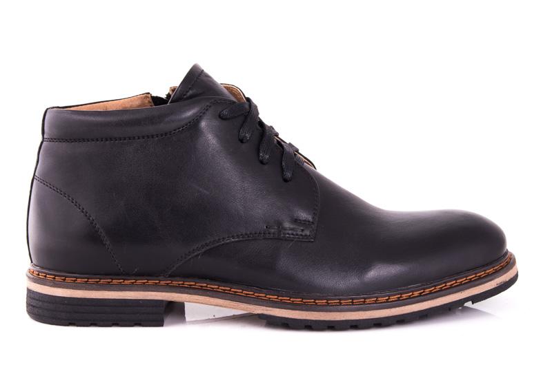 Мужские кожаные ботинки Davis 1692/5 blk фото 1