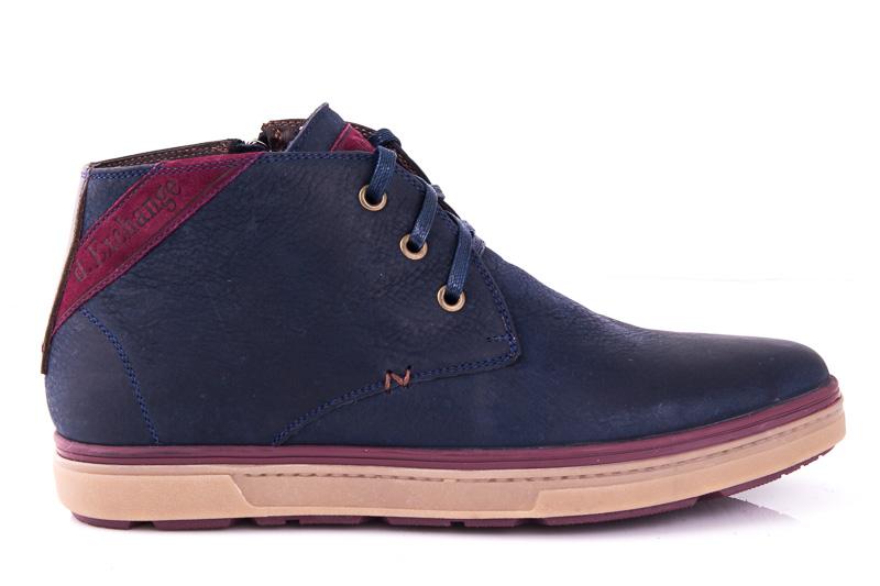 Мужские кожаные ботинки Davis 1711/25 blue фото 1