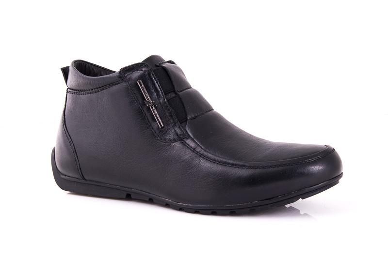 Мужские кожаные ботинки Falcon B 6415 blk. фото 1