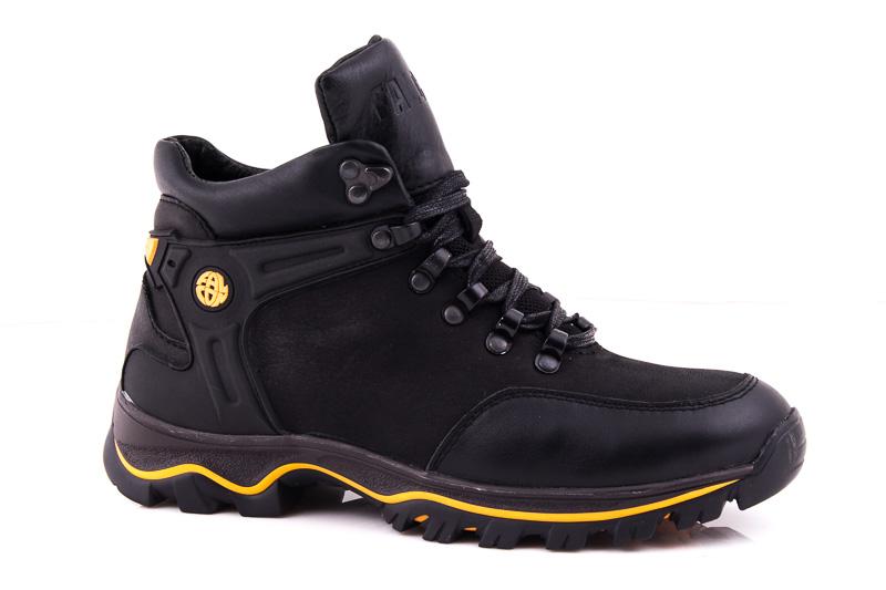 Подростковые кожаные ботинки Falcon П 6015 blk. фото 1