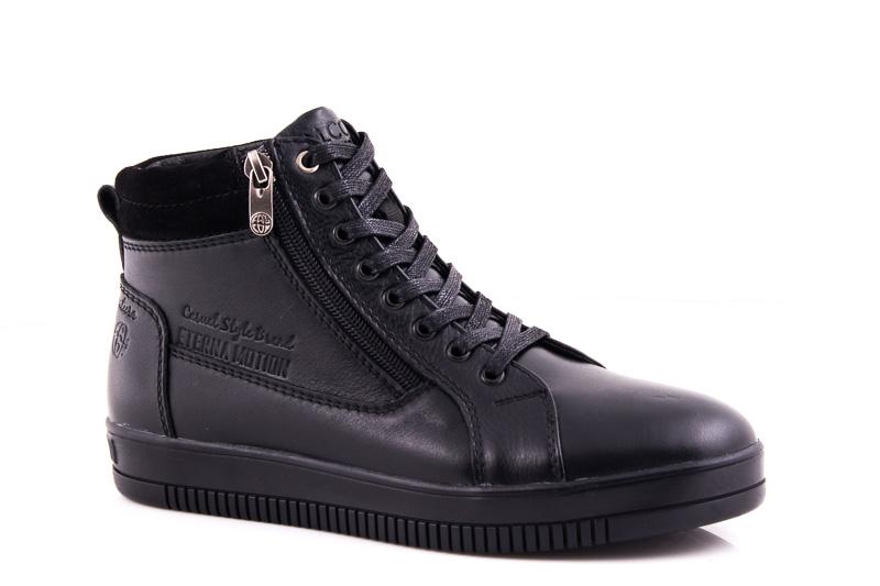 Подростковые кожаные ботинки Falcon П 50317 blk. ФОТО 1