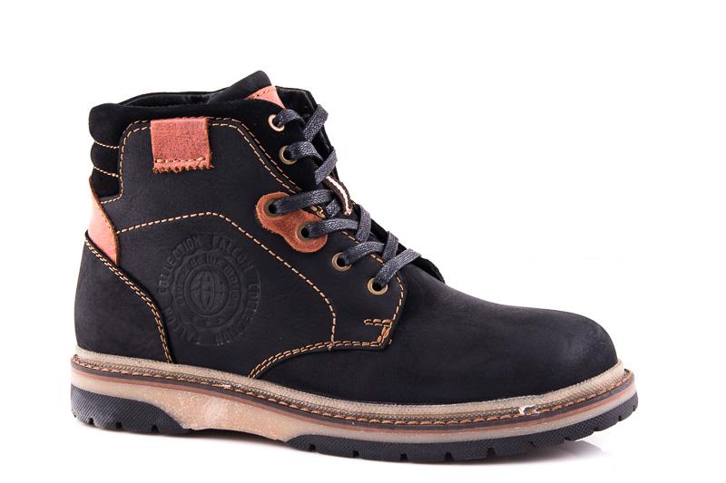 Подростковые кожаные ботинки Falcon 15516 blk. фото 1