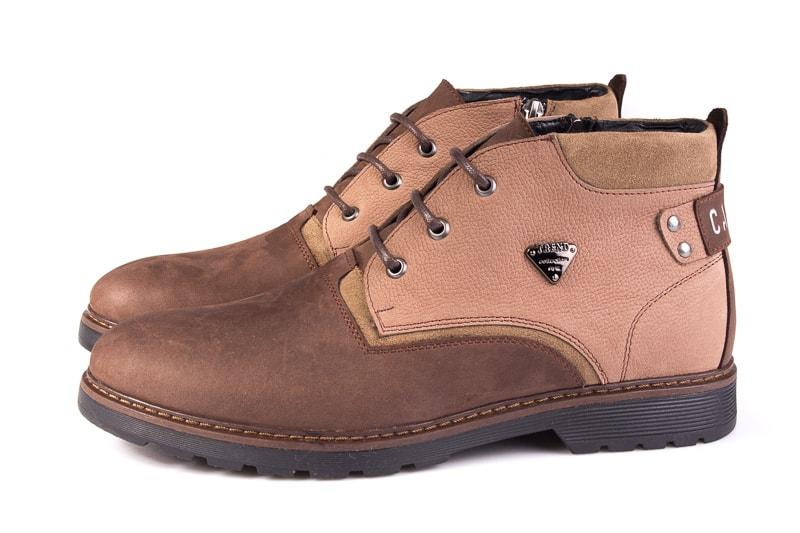 Мужские ботинки из нубука Rondo 750z/056R. фото 5