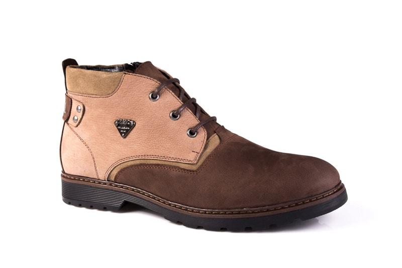 Мужские ботинки из нубука Rondo 750z/056R. фото 1