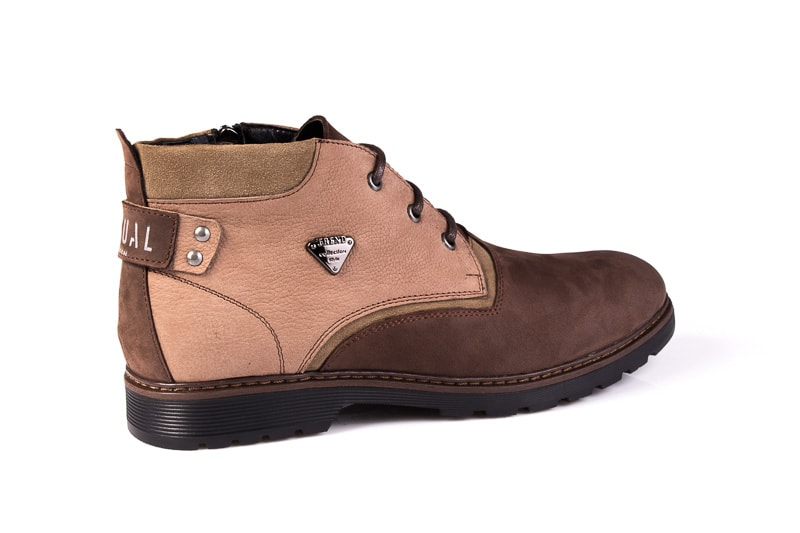Мужские ботинки из нубука Rondo 750z/056R. фото 3