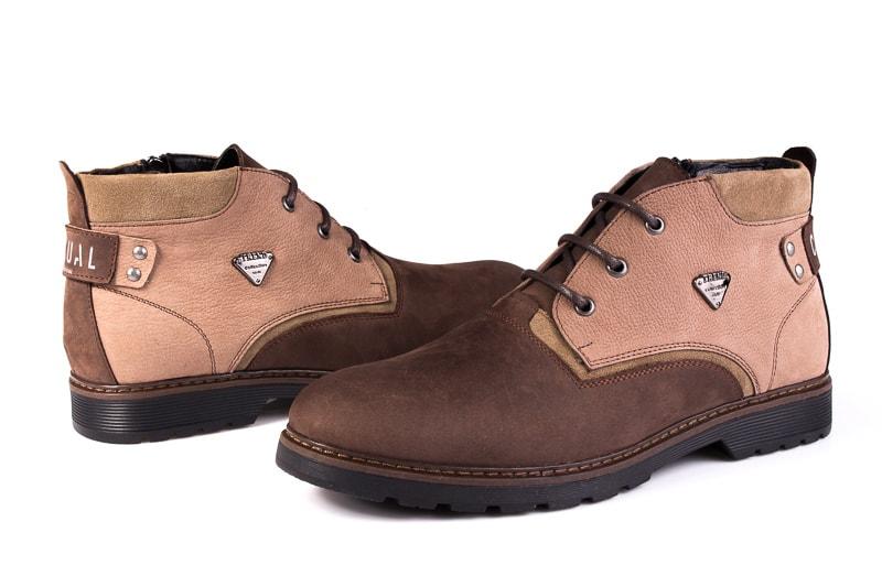 Мужские ботинки из нубука Rondo 750z/056R. фото 6