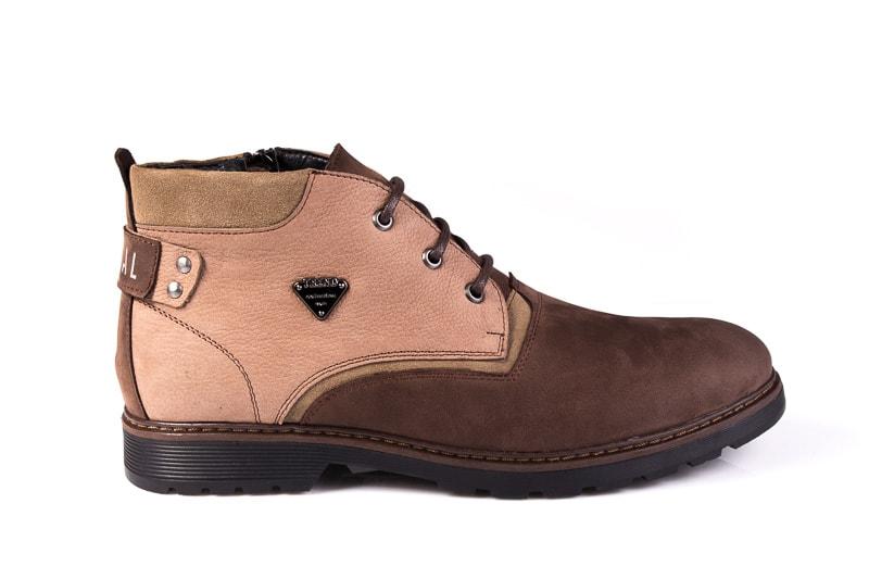 Мужские ботинки из нубука Rondo 750z/056R. фото 2