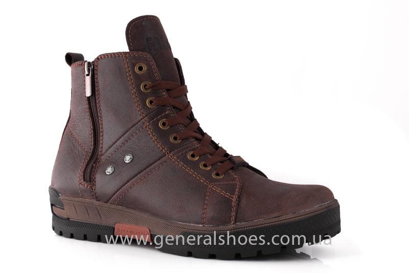 Мужские кожаные ботинки Falcon 3113 br фото 1