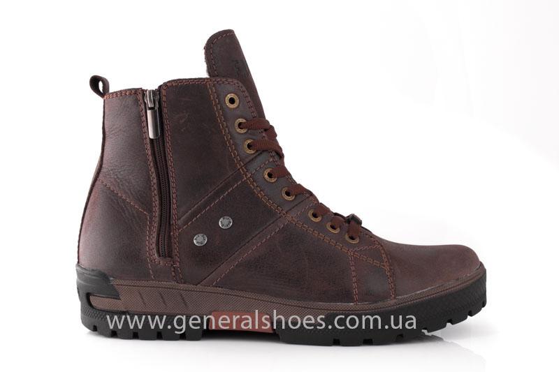 Мужские кожаные ботинки Falcon 3113 br фото 2