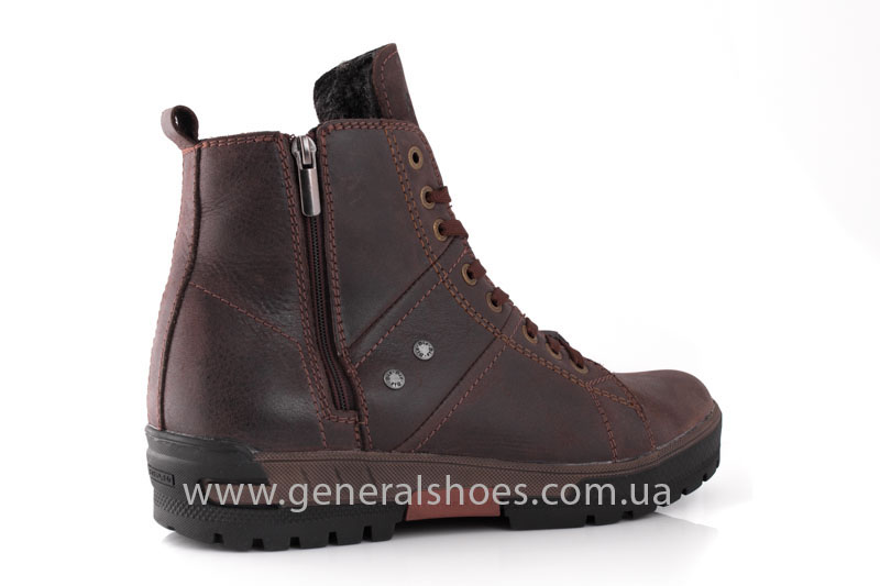 Мужские кожаные ботинки Falcon 3113 br фото 3