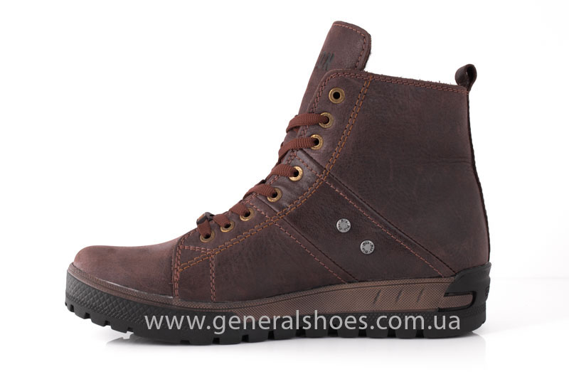 Мужские кожаные ботинки Falcon 3113 br фото 4