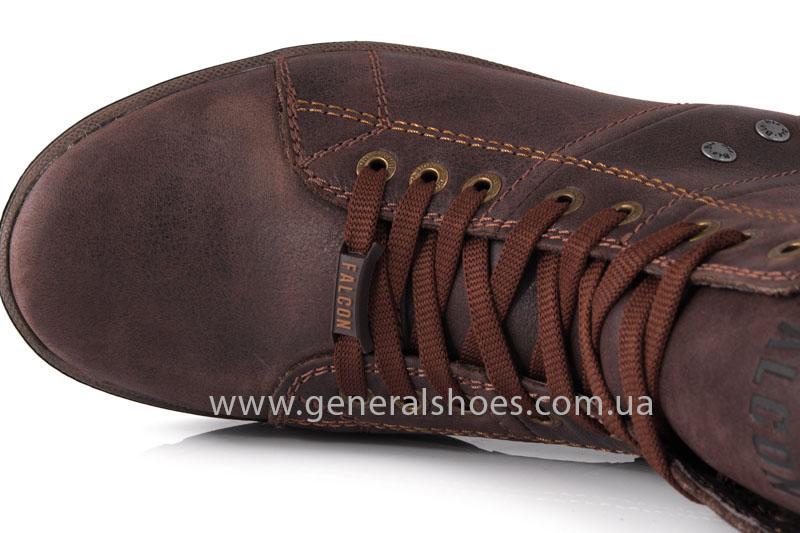Мужские кожаные ботинки Falcon 3113 br фото 5