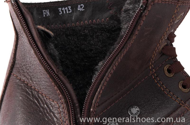 Мужские кожаные ботинки Falcon 3113 br фото 7