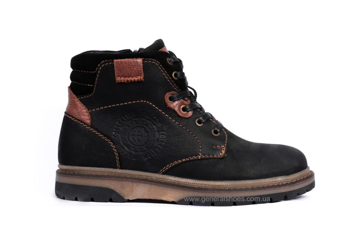 Подростковые зимние кожаные ботинки Falcon 15516 blk. фото 1