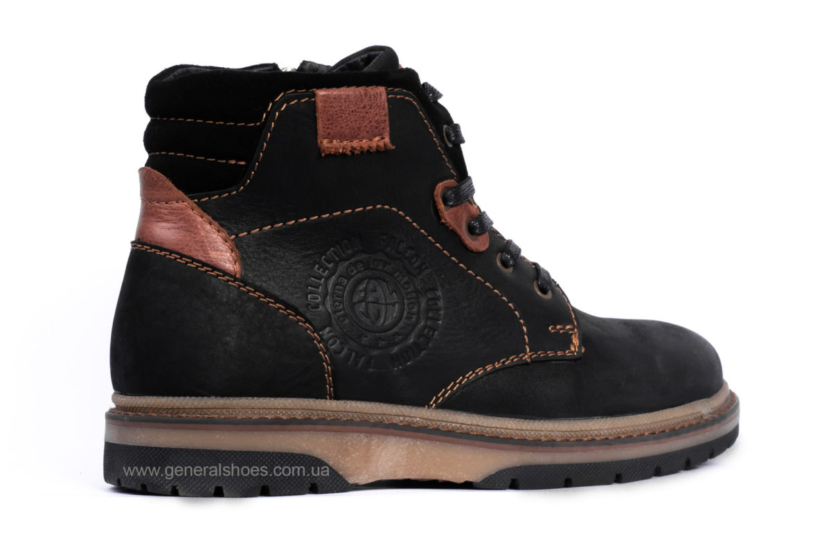 Подростковые зимние кожаные ботинки Falcon 15516 blk. фото 2