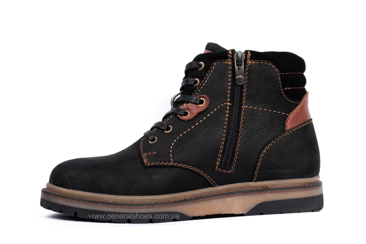Подростковые зимние кожаные ботинки Falcon 15516 blk. фото 3