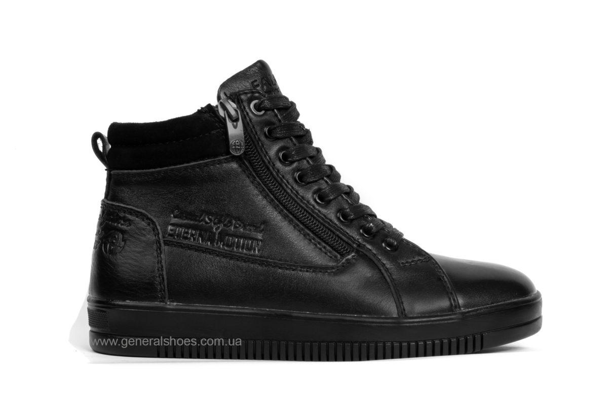 Подростковые зимние кожаные ботинки Falcon П 50317 blk. фото 1