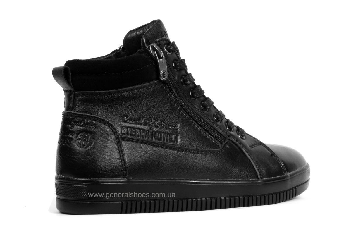 Подростковые зимние кожаные ботинки Falcon П 50317 blk. фото 2