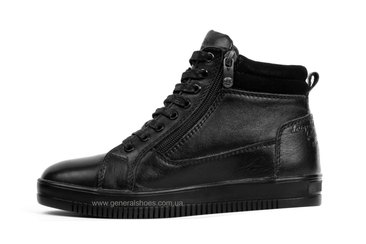 Подростковые зимние кожаные ботинки Falcon П 50317 blk. фото 3