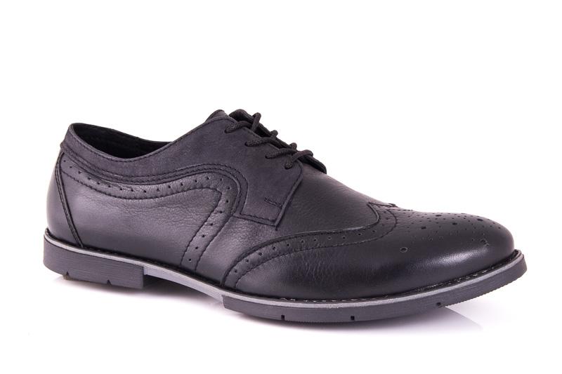 Мужские кожаные туфли Falcon 7515 blk фото 1