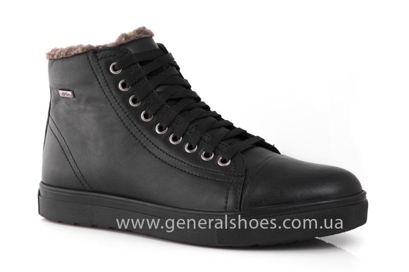 Мужские кожаные ботинки Ed-Ge R 17 blk. фото 1