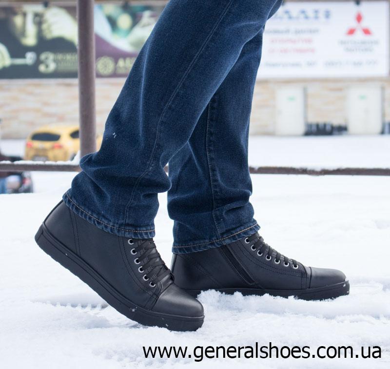Мужские кожаные ботинки Ed-Ge R 17 blk. фото 8