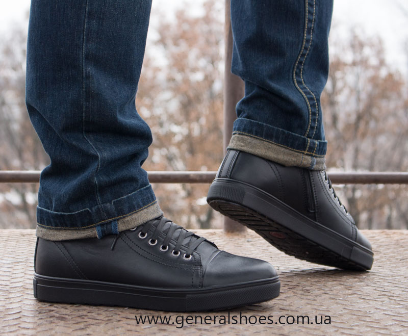Мужские кожаные ботинки Ed-Ge R 17 blk. фото 9