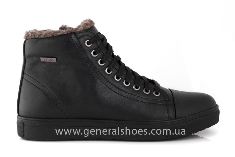 Мужские кожаные ботинки Ed-Ge R 17 blk. фото 2