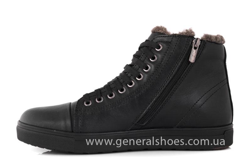 Мужские кожаные ботинки Ed-Ge R 17 blk. фото 4