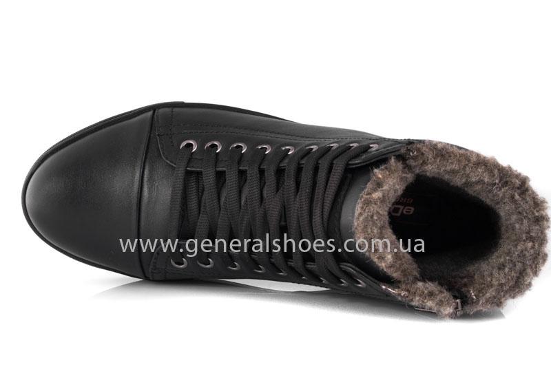 Мужские кожаные ботинки Ed-Ge R 17 blk. фото 5