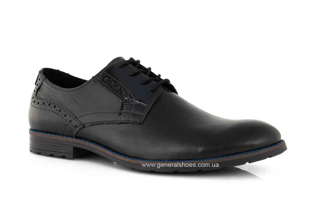 Мужские кожаные туфли Falcon 7715 черные фото 1