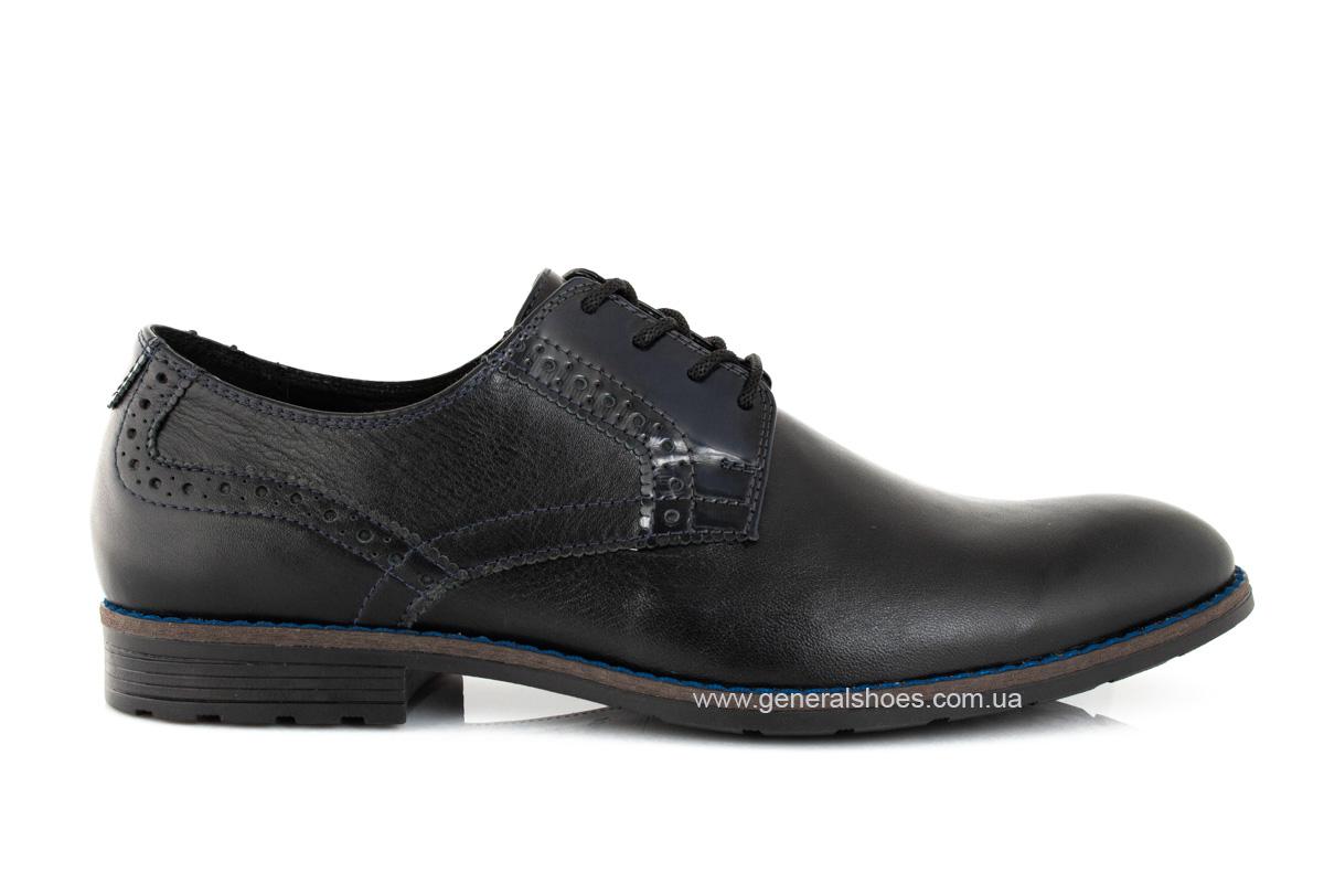 Мужские кожаные туфли Falcon 7715 черные фото 2