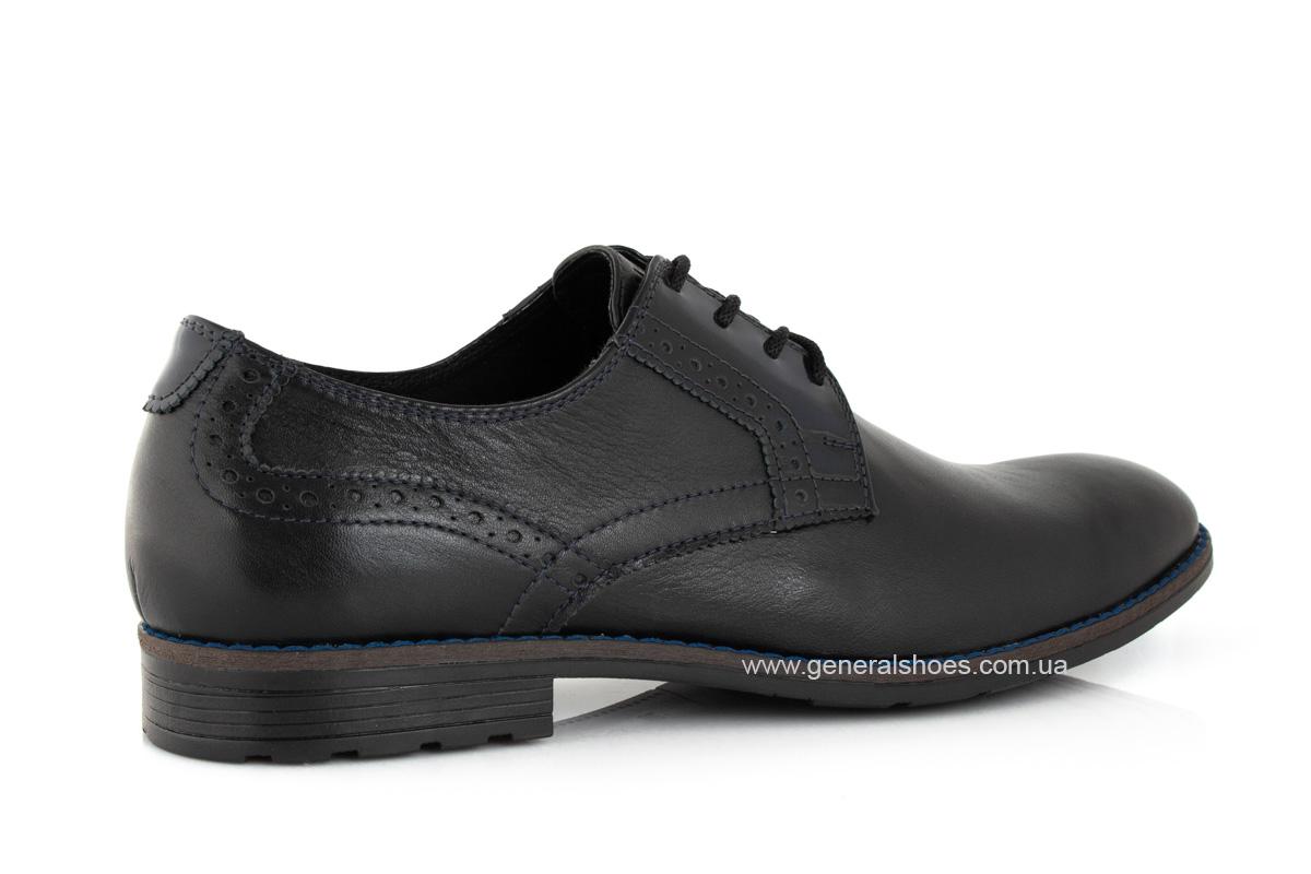 Мужские кожаные туфли Falcon 7715 черные фото 3