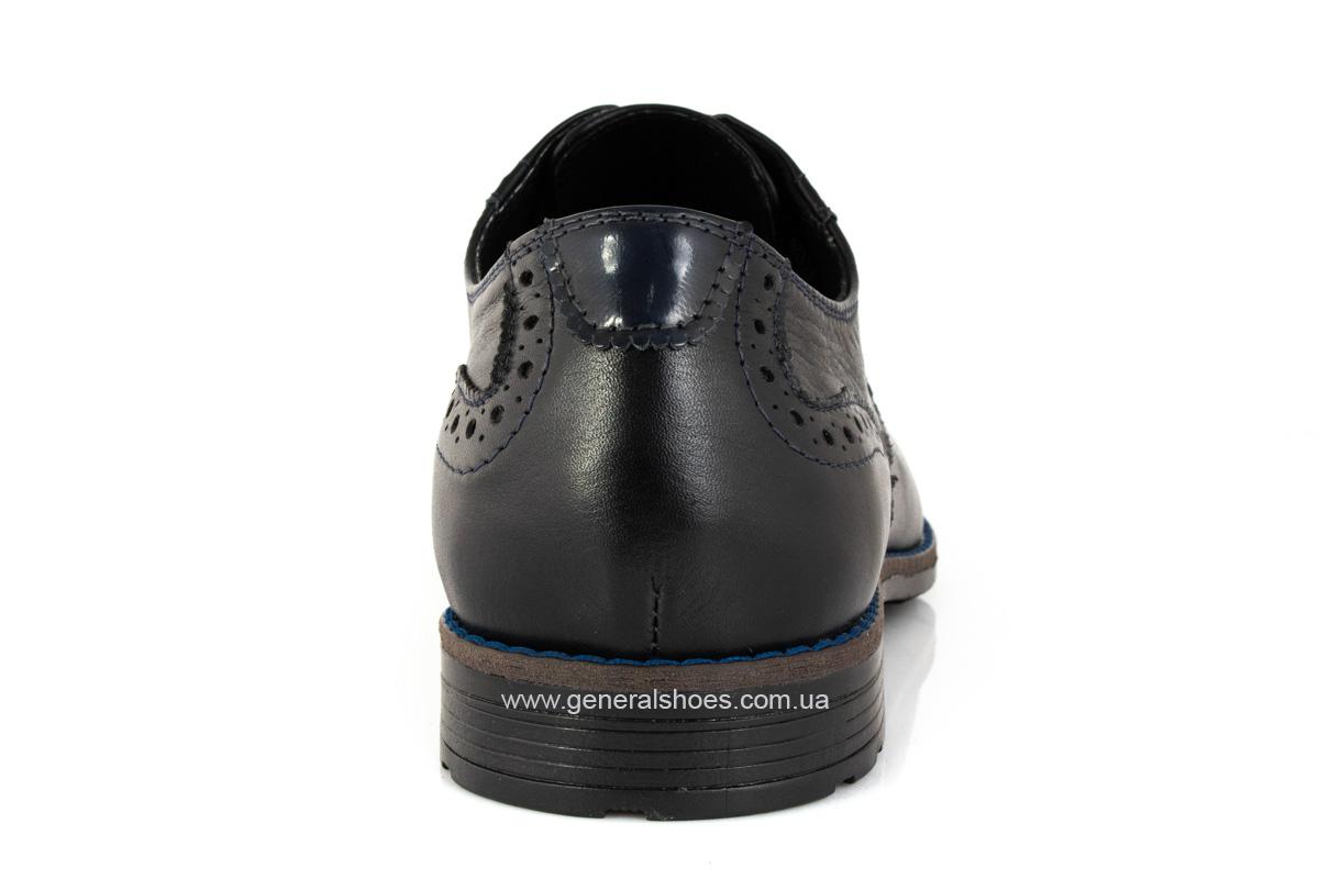 Мужские кожаные туфли Falcon 7715 черные фото 4
