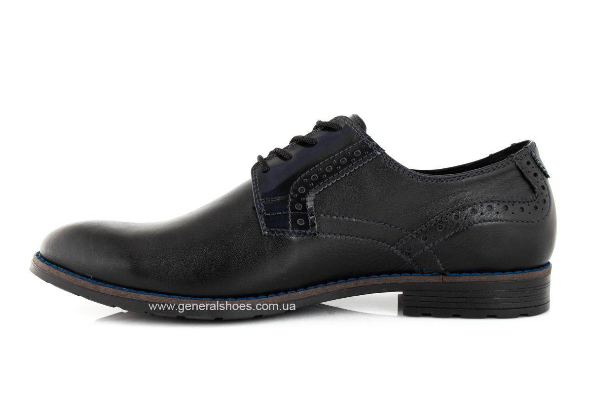 Мужские кожаные туфли Falcon 7715 черные фото 5