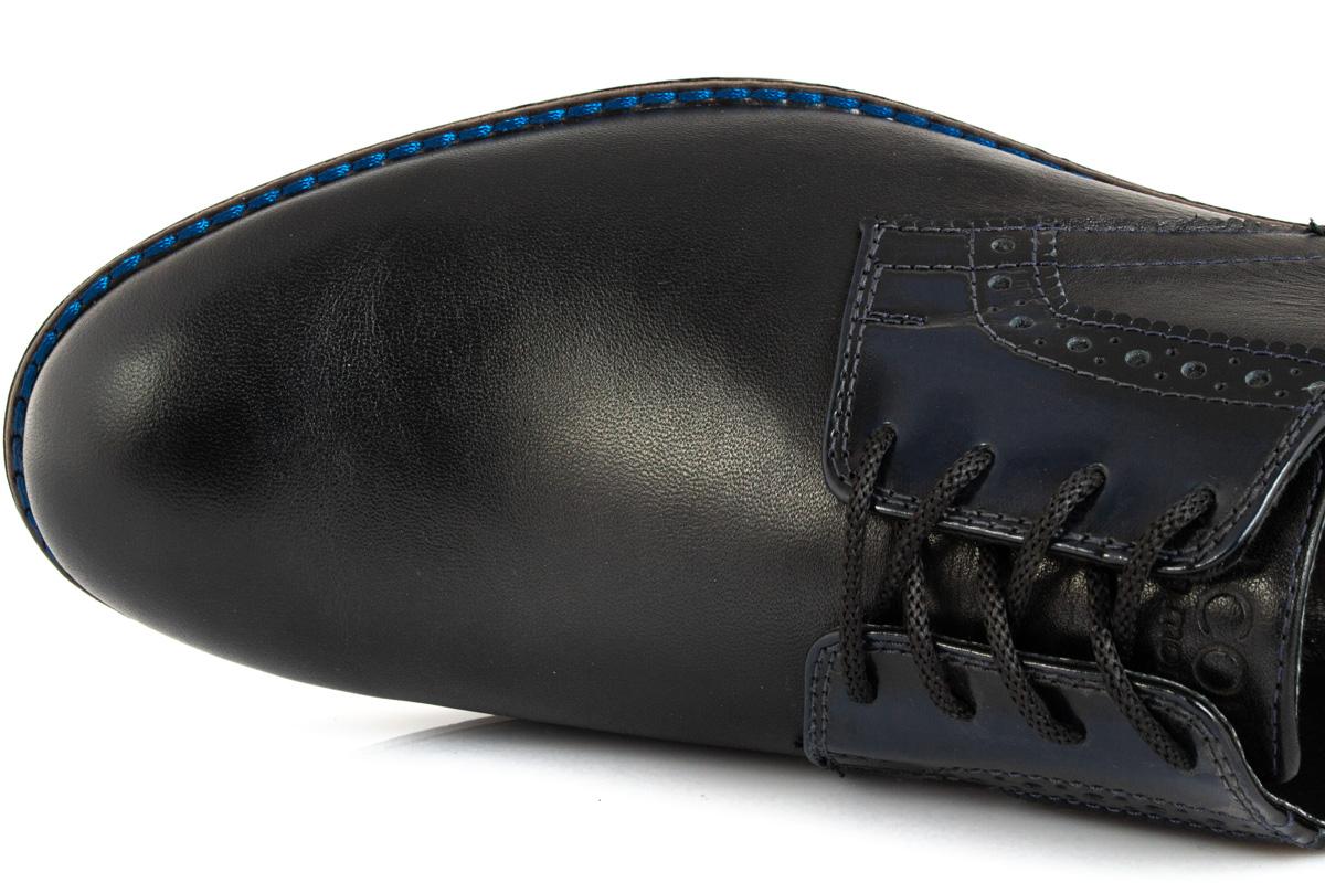 Мужские кожаные туфли Falcon 7715 черные фото 6