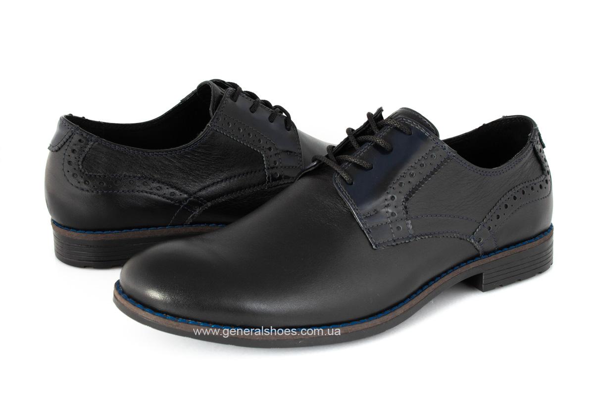 Мужские кожаные туфли Falcon 7715 черные фото 8