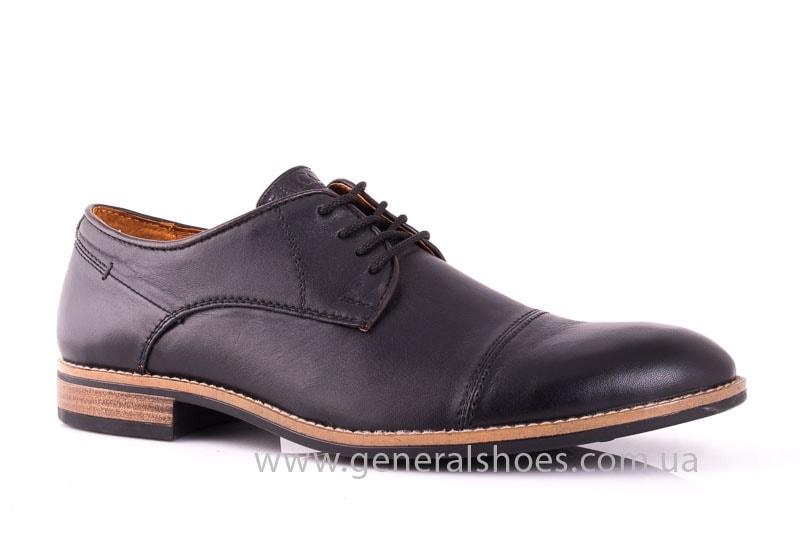 Мужские кожаные туфли Falcon 7915 blk фото 1